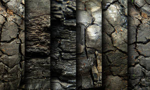 Charred wood - texture pack