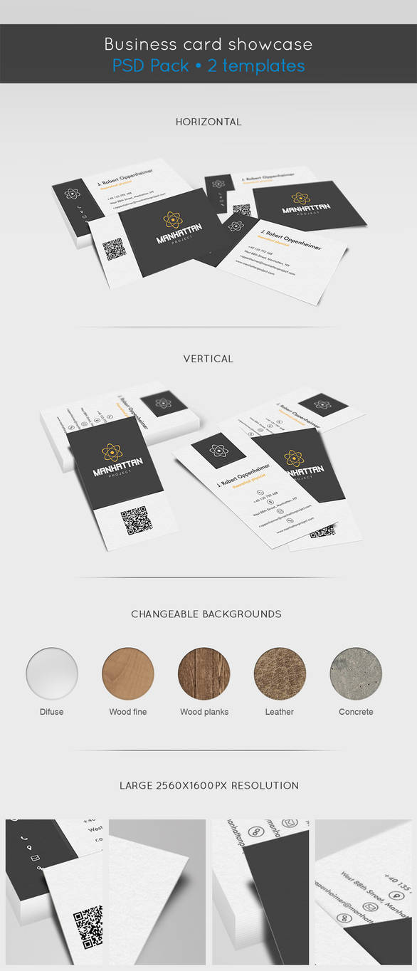 Business card showcase template