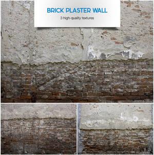Brick plaster wall