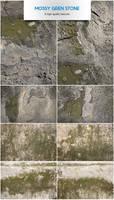 Mossy green stone by raduluchian