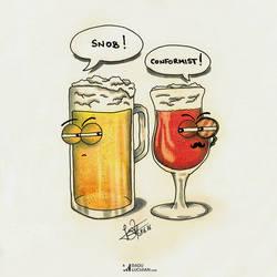 Snob beer by raduluchian