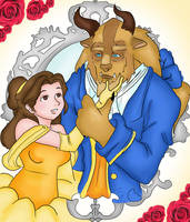 The beauty and the beast by ruzovymonster