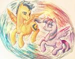 MLPFiM: Twilight Sparkle and Flash Sentry