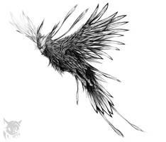 Lavender eagle by SpyxedDemon