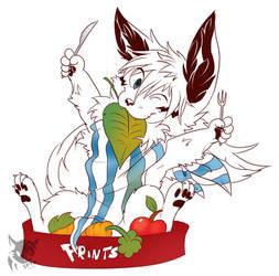 Fox and veggies by SpyxedDemon