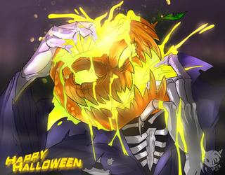 Halloween 2017 Speedpaint::Pumpkinite by SpyxedDemon