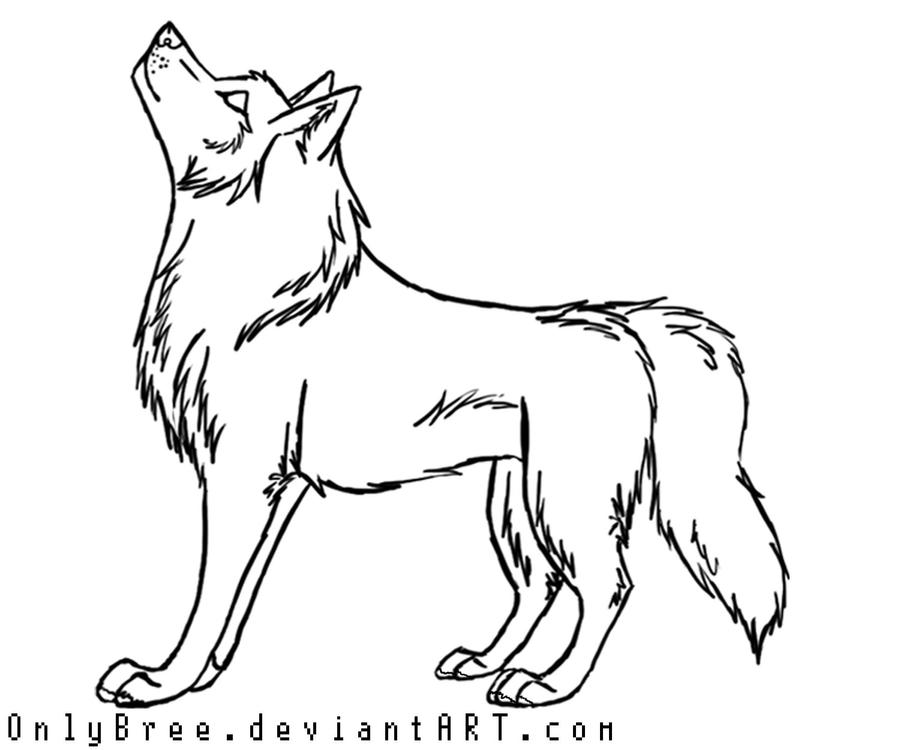 Free Wolf Lineart by OnlyBree on DeviantArt