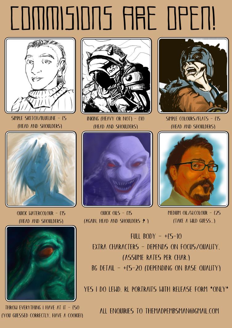 CommissionFlyer by darkwolfreturns