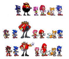 Sonic Evolution Sprite by NoToDo