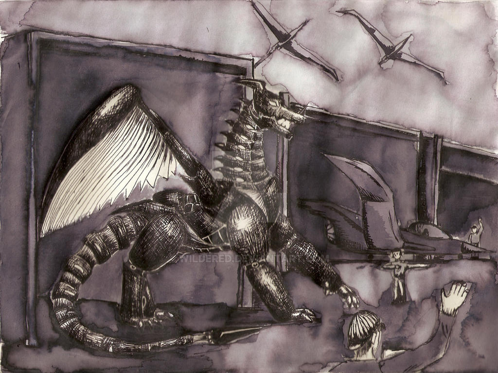 Mecha Dragon by wildered