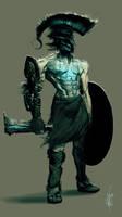 Generic Greek Demon Guard by jeffsimpsonkh