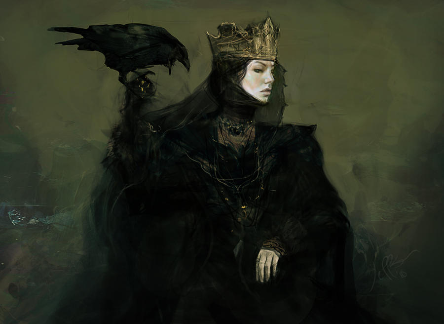Snow White and the Hunstman -Ravenna early concept by jeffsimpsonkh