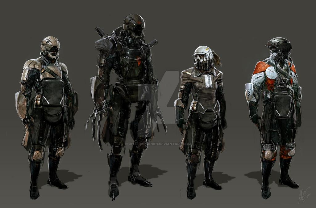 Sci Fi People 1 by jeffsimpsonkh