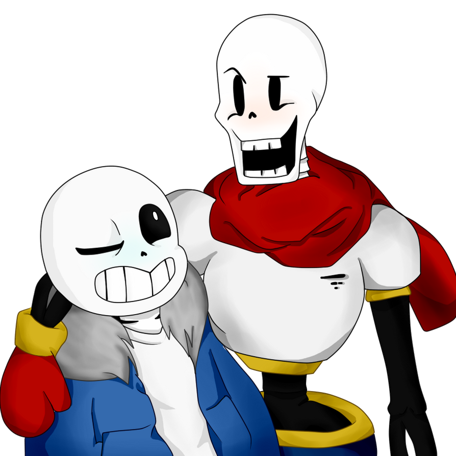 Papyrus, Sans and Frisk | Wallpaper by betaxchanx3 on