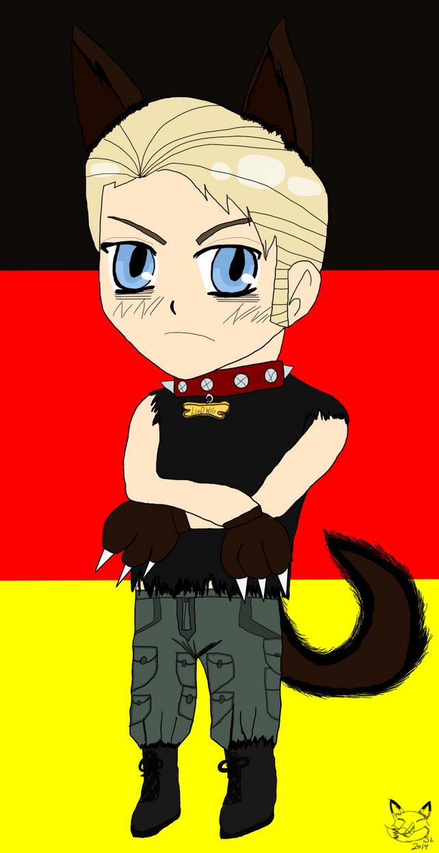 Chibi Werewolf  Germany by foxgirlavatar