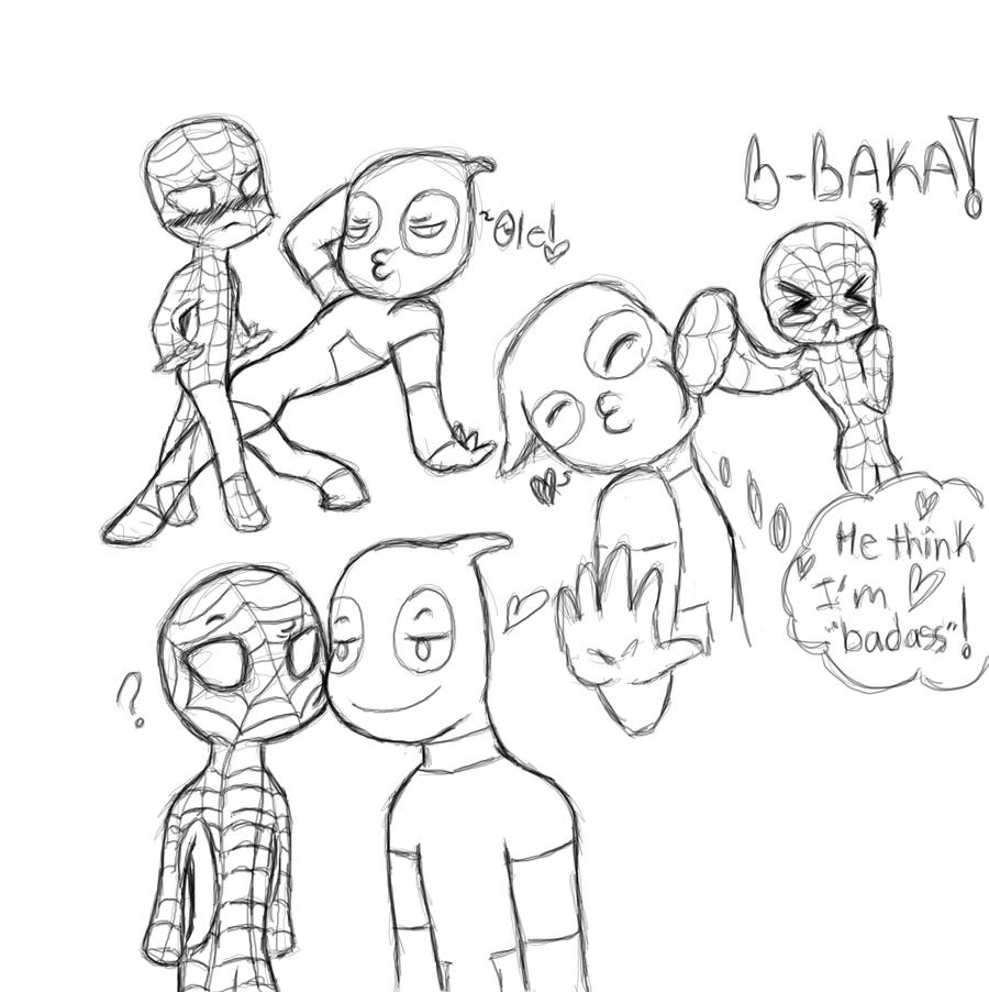 how to draw spiderman 2