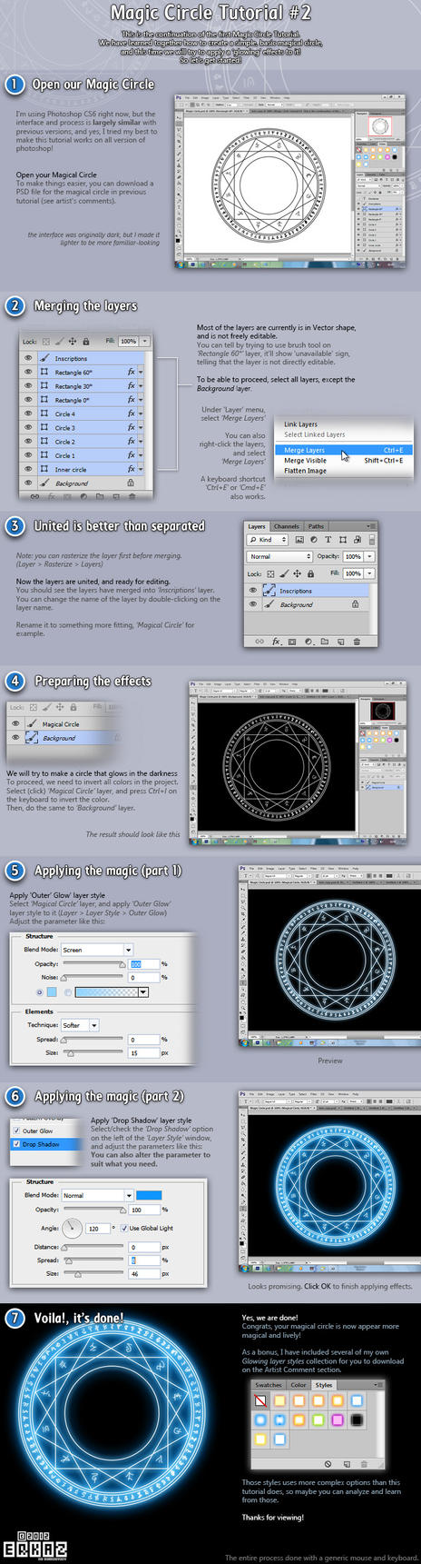 Tutorial: Basic Magic Circle #2 by Erkaz