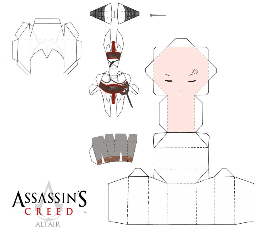 Chibi Ac Altair Papercraft By Kesshoukei On Deviantart