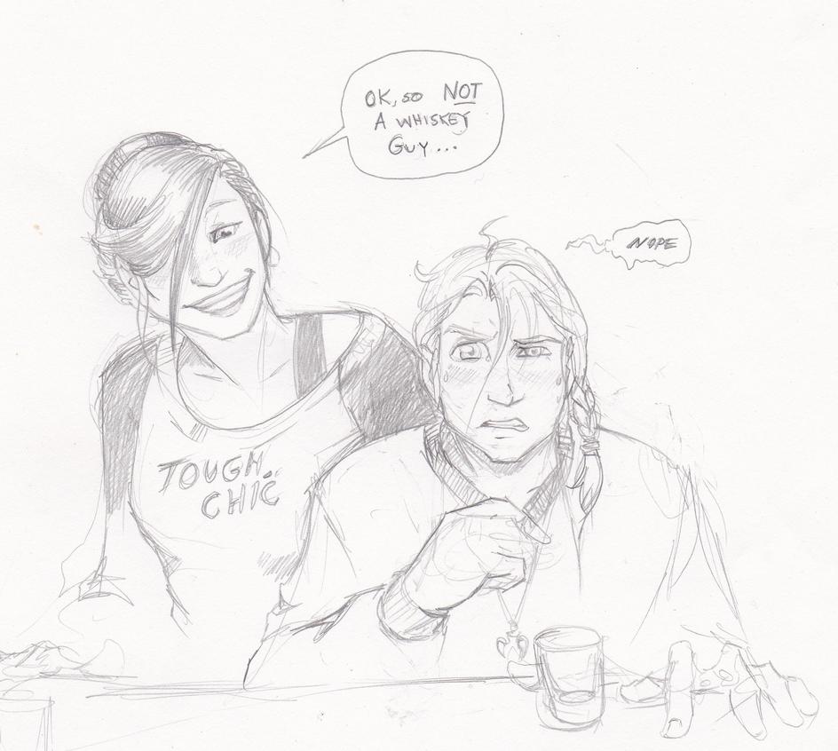 Dani and Xan hit the bar. by xaotl