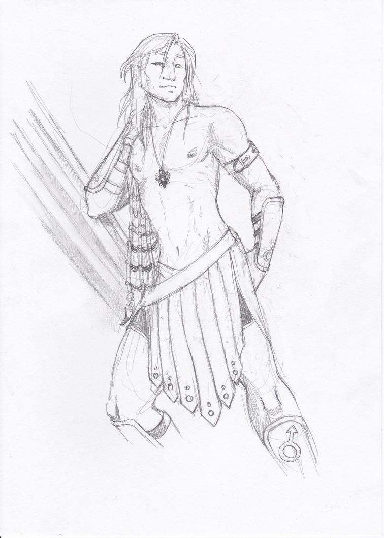 Pin up Knight Kairatos by xaotl
