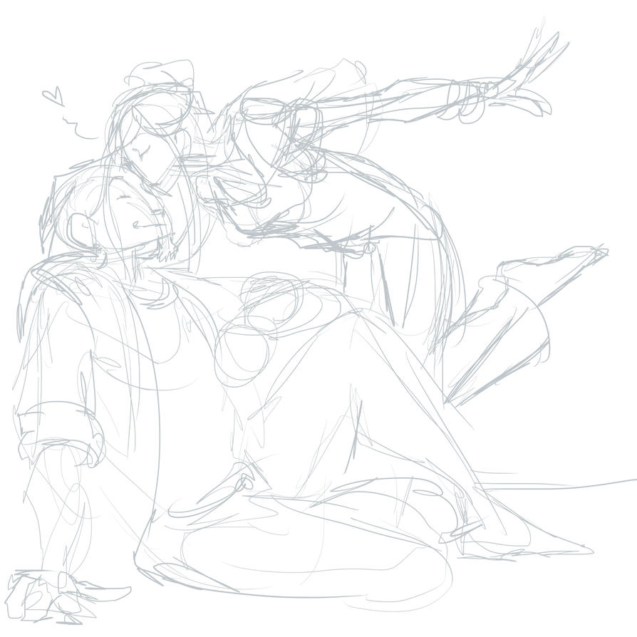 Herger And Laney Sketch by xaotl
