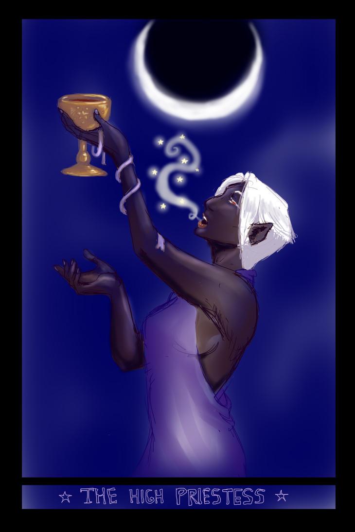 Tarot Priestess by xaotl
