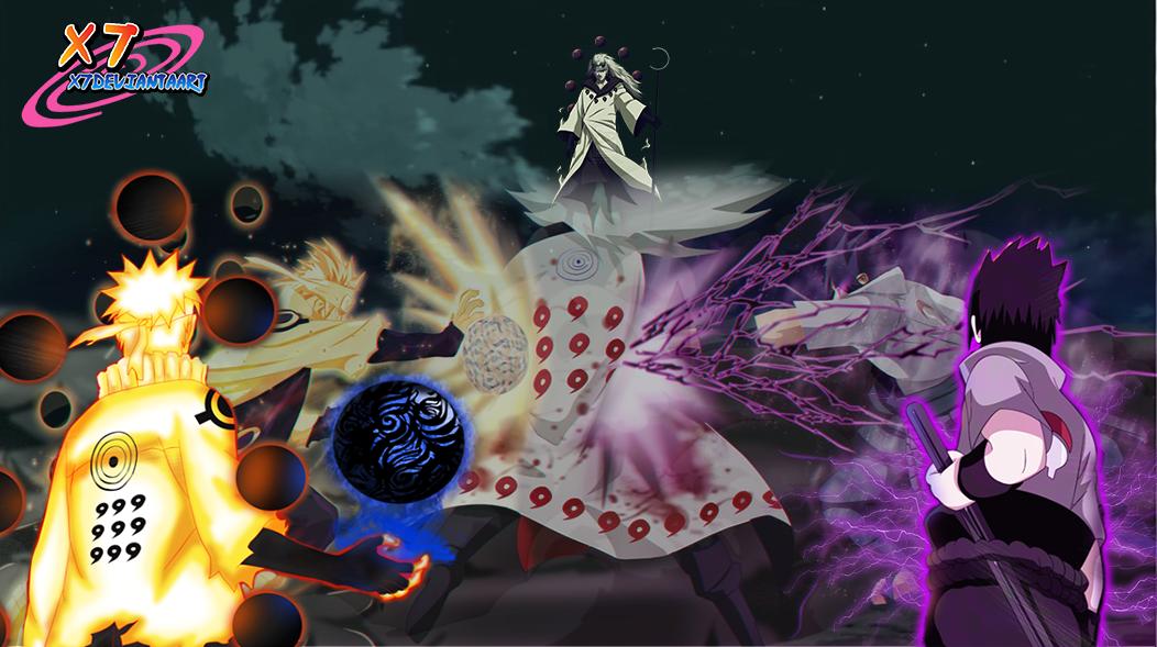 naruto and sasuke vs madara chapter 674 by x7deviantaart on deviantart