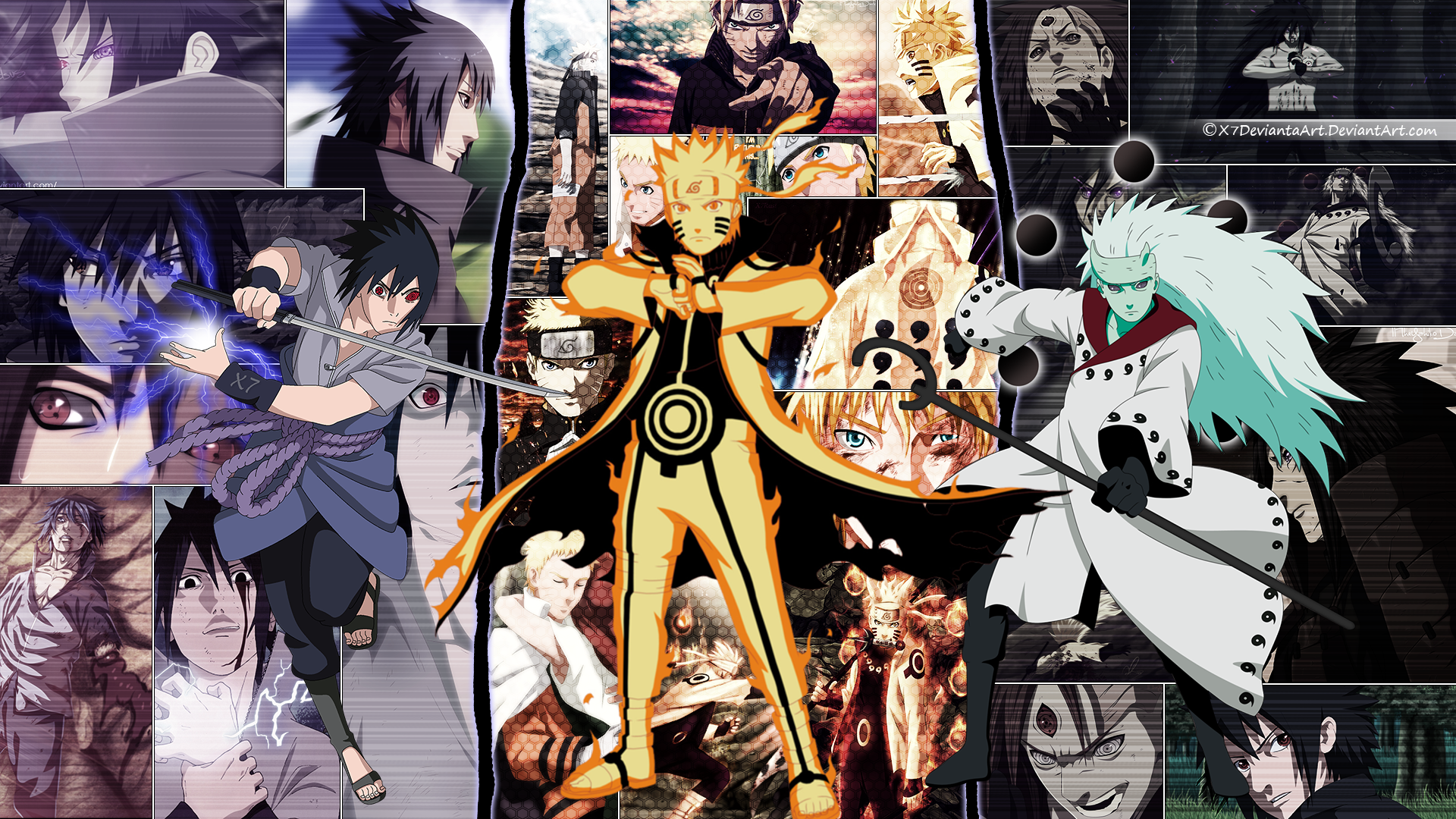 Sasuke Naruto And Madara Wallpaper Byx7deviantaart By