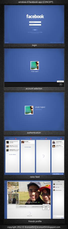 Windows 8 Metro Facebook App