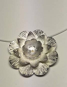 Pendant Silver Flower