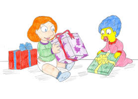 Baby Marge and Lois by Jose-Ramiro