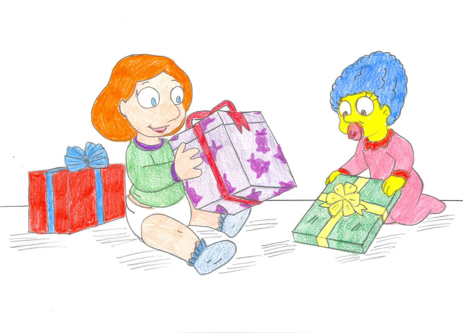 Baby Marge and Lois by Jose-Ramiro on DeviantArt