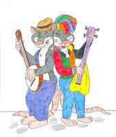 Banjo and Guitar Possum by Jose-Ramiro