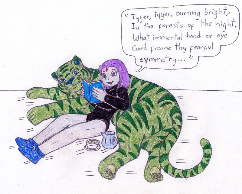 Raven And Beast Boy Wedding Raven And Beast Boy Relax by