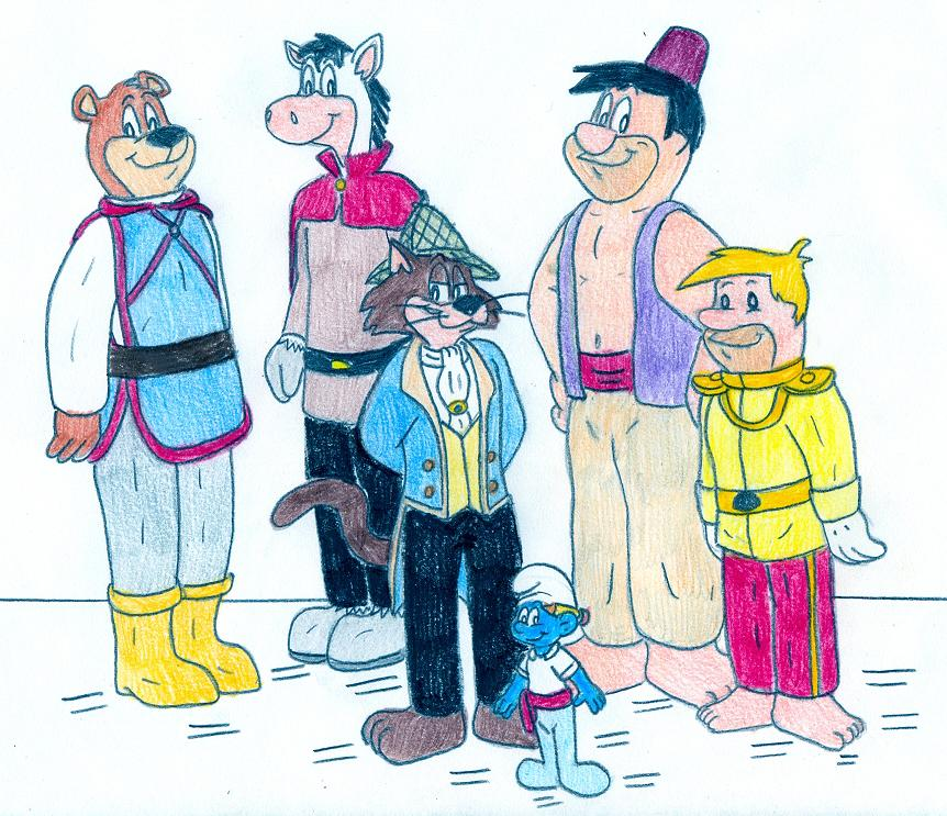 Hanna-Barbera Disney Princes by Jose-Ramiro