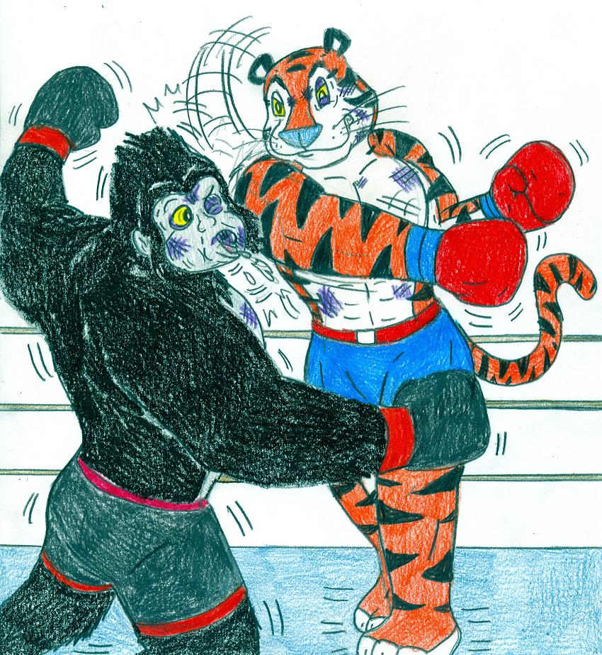 Boxing Tiger Vs Gorilla 2 By Jose Ramiro On Deviantart