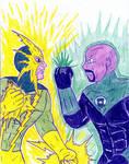 Electro versus Green Lantern by Jose-Ramiro
