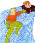 Aquaman versus Hydroman by Jose-Ramiro