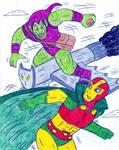Green Goblin vs Mister Miracle by Jose-Ramiro