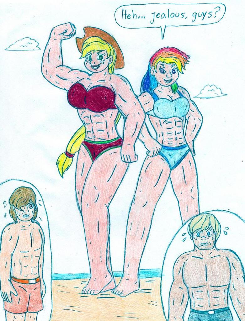 Mlp Human Applejack And Rainbow DashMlp Human Applejack And Rainbow Dash