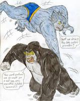 Beast vs Gorilla Grodd by Jose-Ramiro