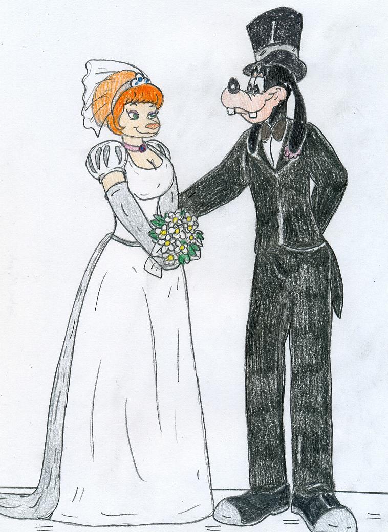 Wedding - Goofy and Sylvia by Jose-Ramiro