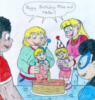 The Twins' first birthday by Jose-Ramiro