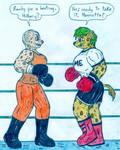 Boxing Hyenas by Jose-Ramiro