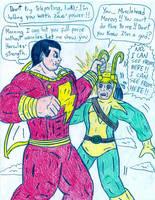 Captain Marvel vs Loki by Jose-Ramiro