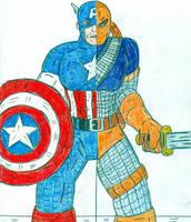 Captain America vs Deathstroke by Jose-Ramiro