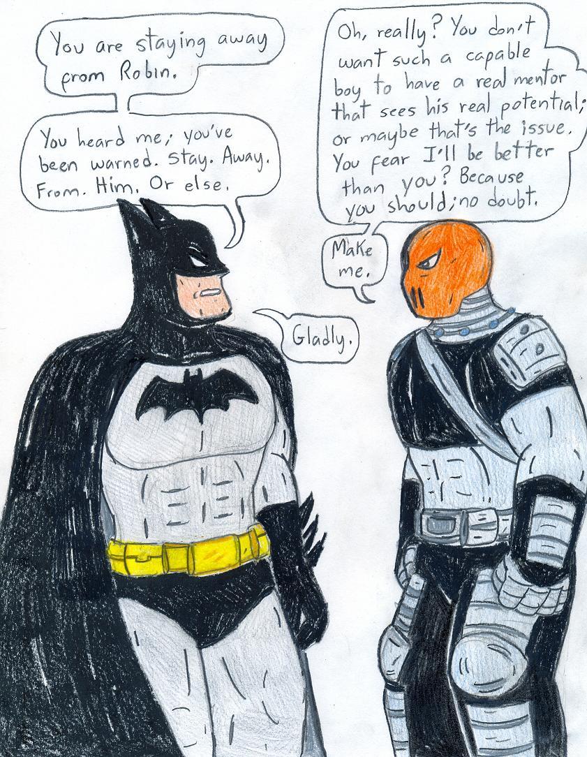 Batman vs Slade by Jose-Ramiro