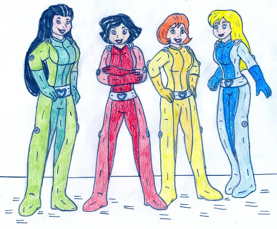 Totally spies 39 race change by jose ramiro on deviantart - Deguisement totally spies adulte ...