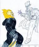 Ghosts - Rider vs Gentleman by Jose-Ramiro