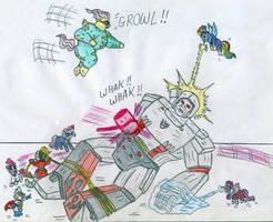 Power Ponies vs Megatron by Jose-Ramiro